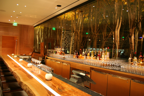 This Photo Of Aria S American Fish Restaurant Was Taken The Day Before Resort Opened To Public I Think Is An Interesting Bar Design